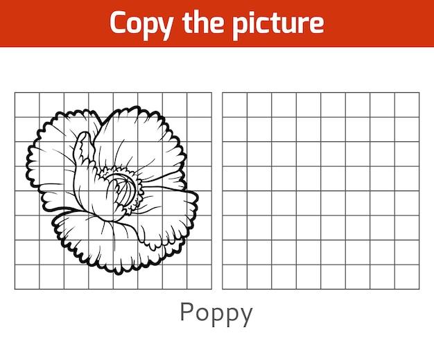 Copie a imagem, jogo educativo para crianças, poppy