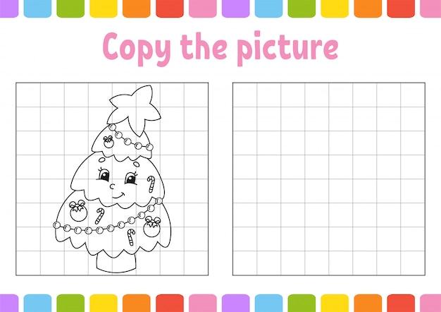 Copie a imagem. páginas do livro de colorir para crianças.