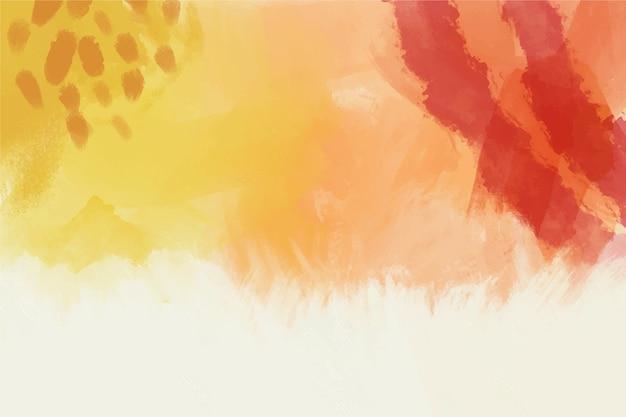 Copie o espaço cores quentes pintados à mão segundo plano