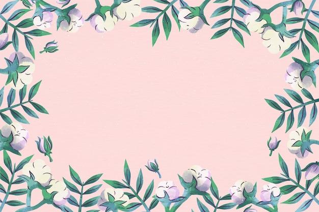 Copie o espaço rosa fundo floral