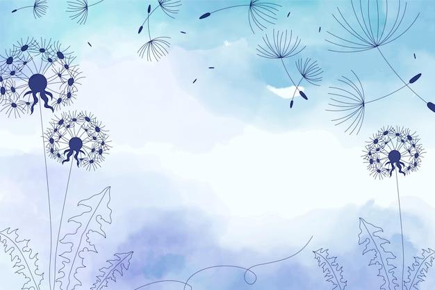 Copie o fundo do espaço com design floral