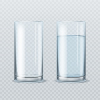 Copo de água realista.