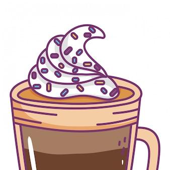 Copo de café gelado isolado