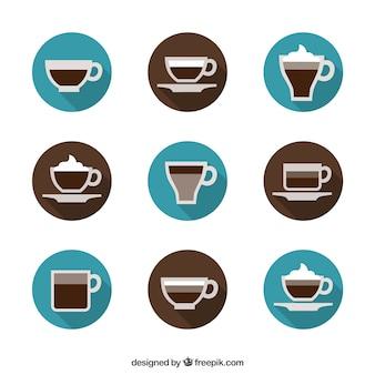 Copo de café ícones