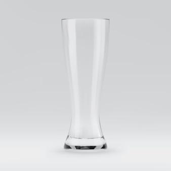 Copo de cerveja renderizado 3d transparente vazio