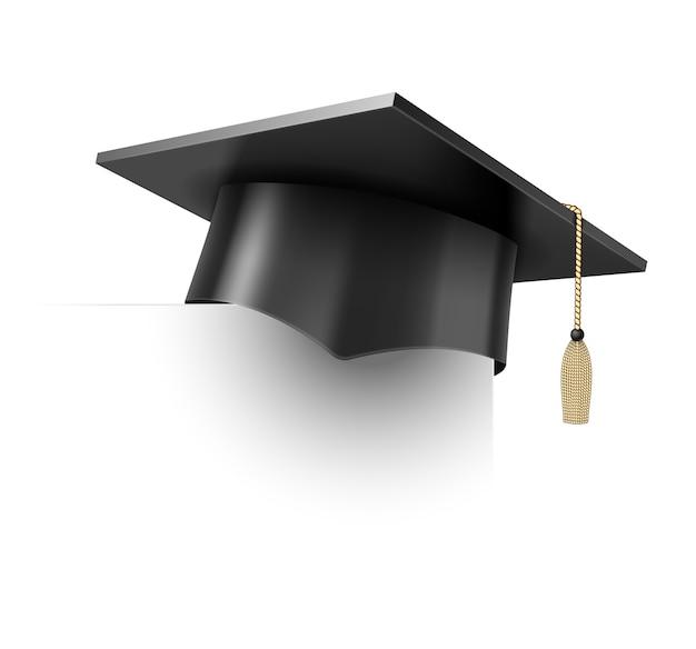 Copo de educação de vetor realista em branco