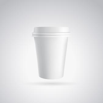 Copo de papel de café.