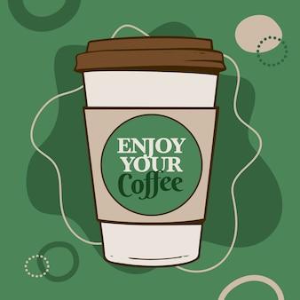 Copo de papel de café