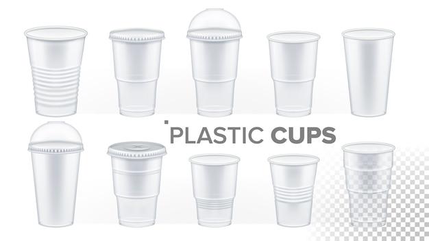 Copo de plástico transparente