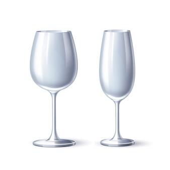 Copo de vinho champanhe vidro branco
