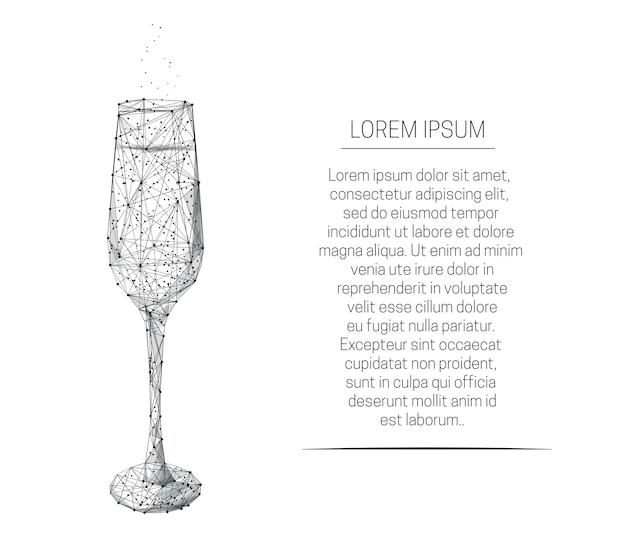 Copo de vinho com champanhe