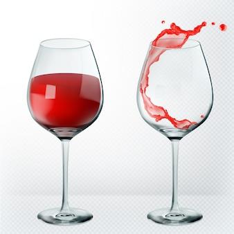 Copo de vinho de transparência.
