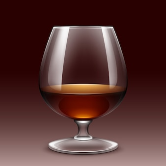 Copo de vinho isolado transparente