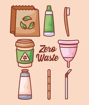 Copo menstrual com conjunto ecológico