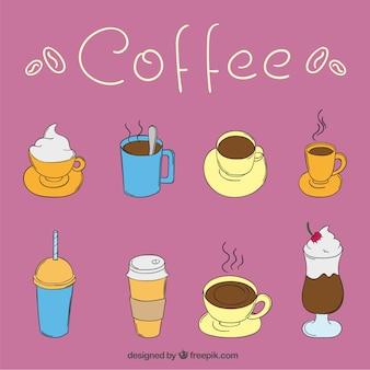 Copos de café ilustração