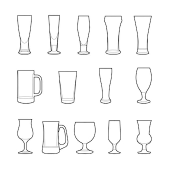 Copos de cerveja artesanal