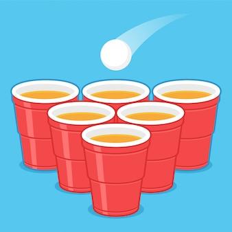 Copos de cerveja pong