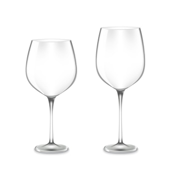 Copos de vinho vazios