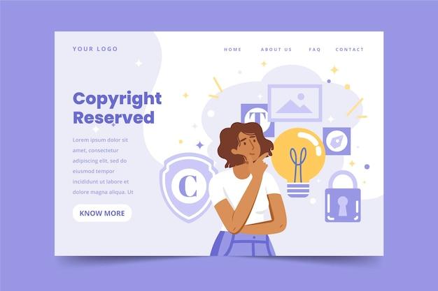 Copyright landing page