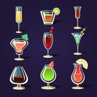 Coquetéis de álcool e outras bebidas