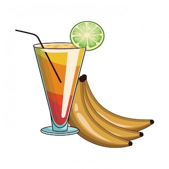 Coquetel com bananas