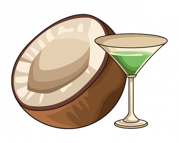 Coquetel com coco
