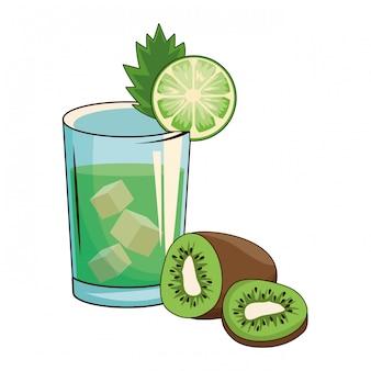 Coquetel com kiwi