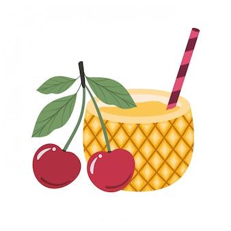 Coquetel de abacaxi para o verão
