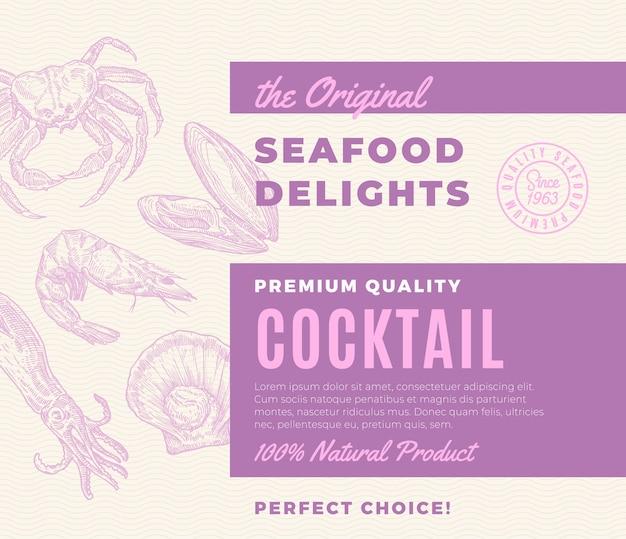 Coquetel de delícias de frutos do mar de qualidade premium