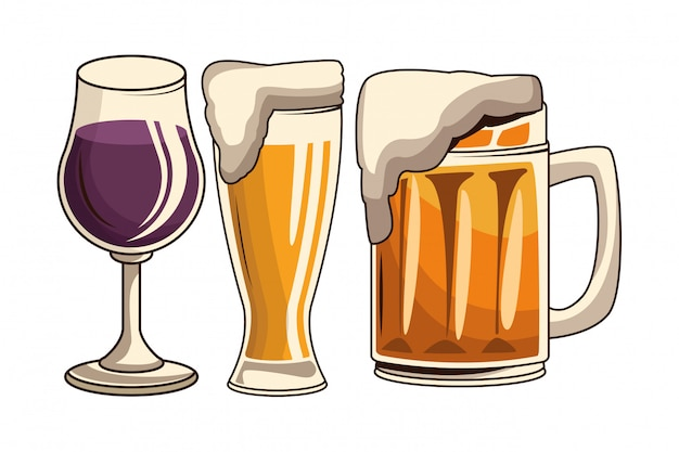 Coquetel e cerveja