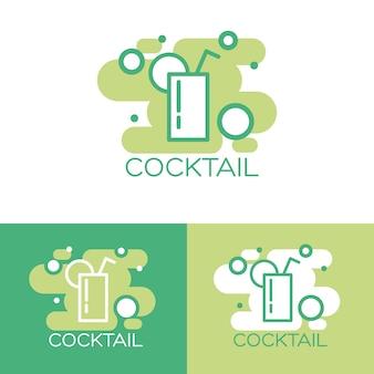Coquetel logotipo conceito design.