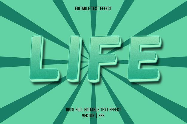 Cor azul-petróleo com efeito de texto editável life
