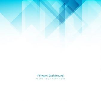 Cor azul polígono elegante forma fundo