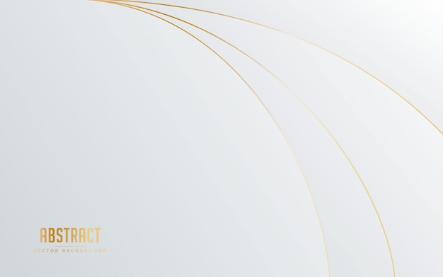 Cor branca e cinzenta do fundo abstrato com linha cor dourada.