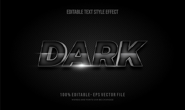 Cor carbono escuro efeito moderno do estilo de texto editável. estilo de fonte editável.