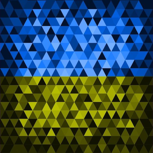 Cor da bandeira ucraniana. ilustração em vetor fundo geométrico abstrato claro