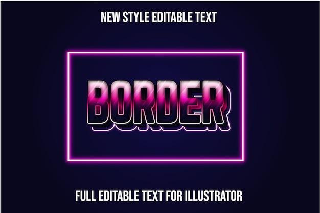 Cor da borda do efeito de texto gradiente roxo e rosa