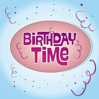 Cor da mensagem de aniversário e festa