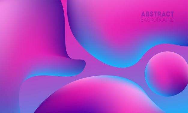 Cor da moda fundo fluido. composição de formas criativas para design de banner ou panfleto.