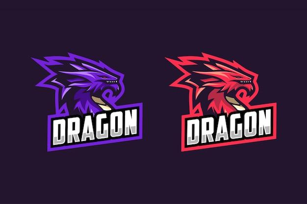 Cor da opção do logotipo do dragão esport
