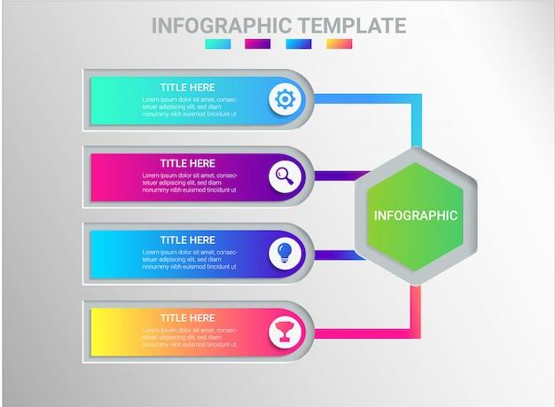 Cor de design infográfico completo