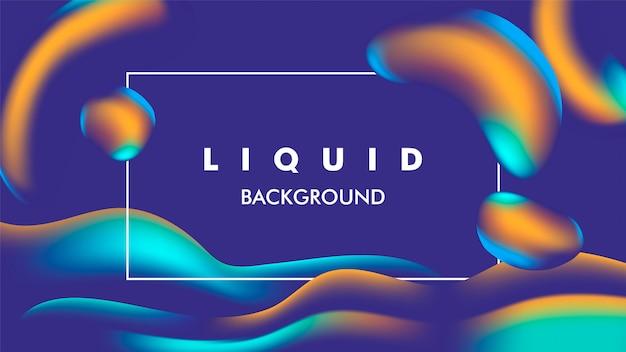 Cor de fundo líquido