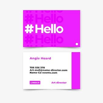 Cor de néon para design de cartão de visita