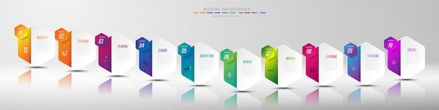 Cor de papel origami gráfico no modelo de informação-gráfico de vetor para gráfico de apresentação do diagrama e conceito de negócio com opções de 5 ou 6 elementos