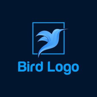 Cor de vetor de logotipo de pássaro