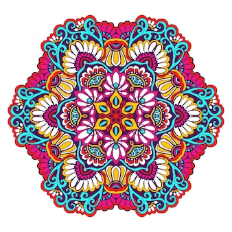 Cor decorativa mandala