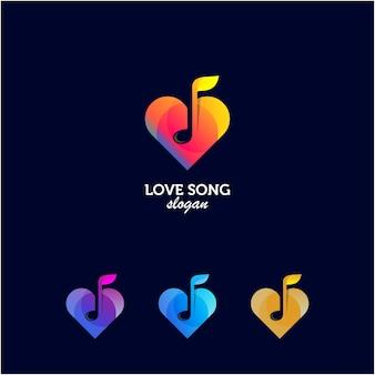 Cor do gradiente do logotipo da canção de amor