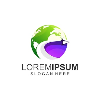 Cor do logotipo da terra