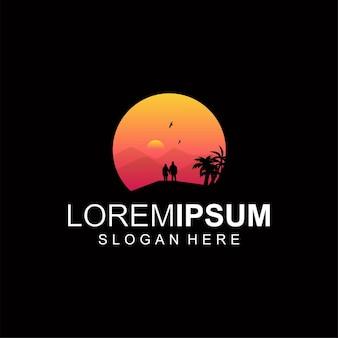Cor do logotipo do pôr do sol