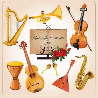 Cor dos instrumentos musicais